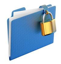 Folder with lock.